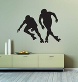 Vinilo decorativo: El patinaje de velocidad sobre ruedas
