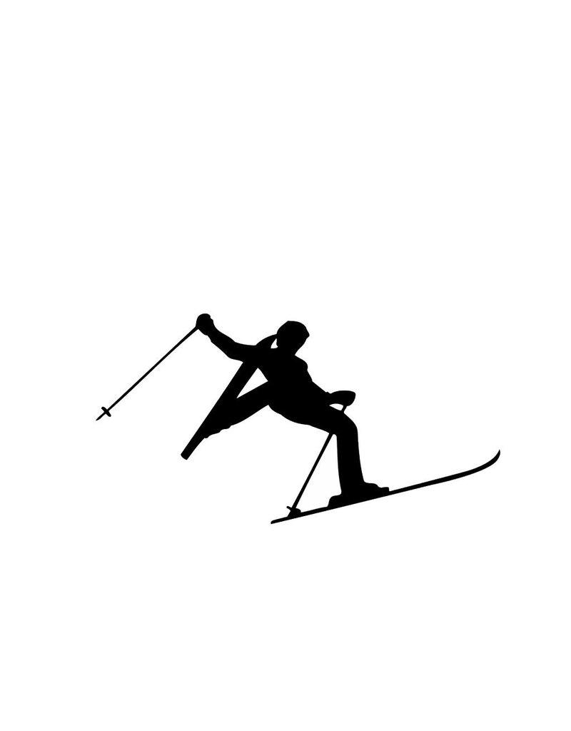 Vinilo decorativo: esquí