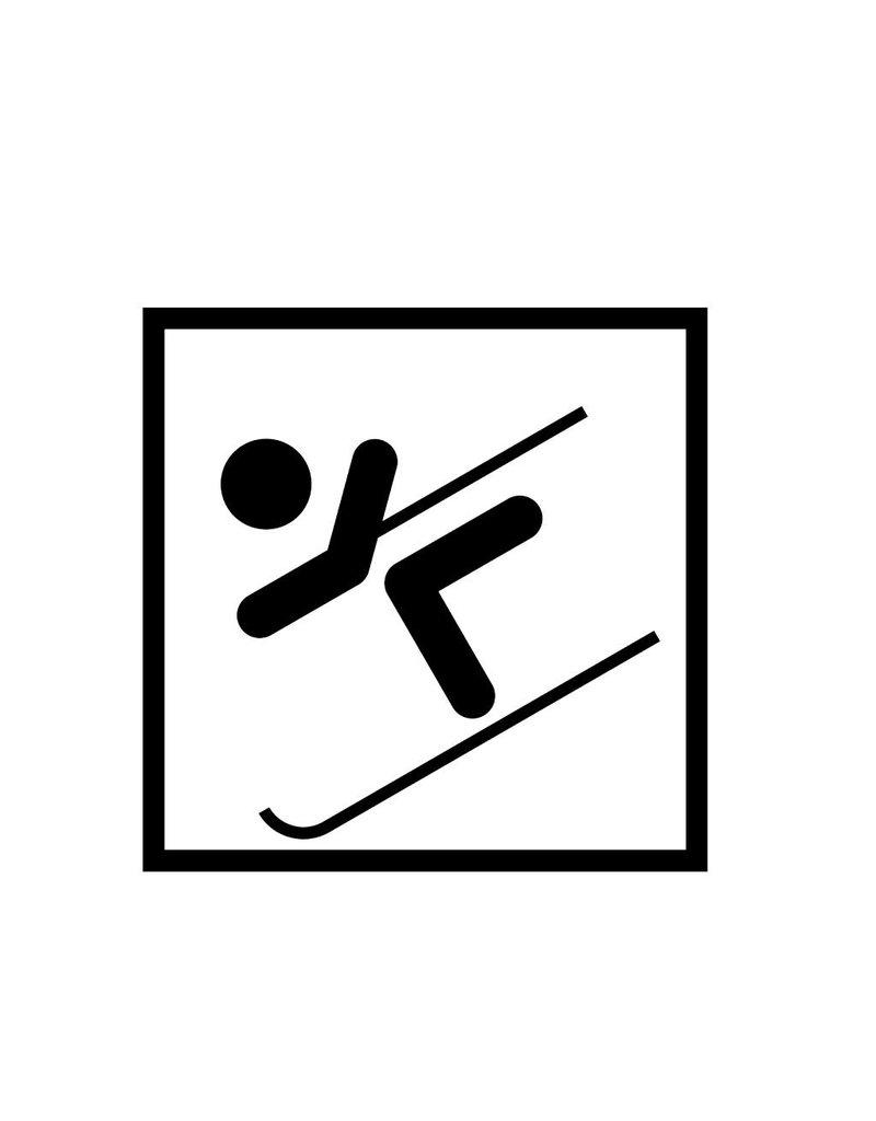 Skifahren Folienschnitt