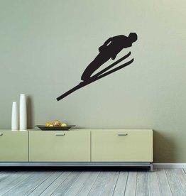 saut à ski Decoupe du vinyle