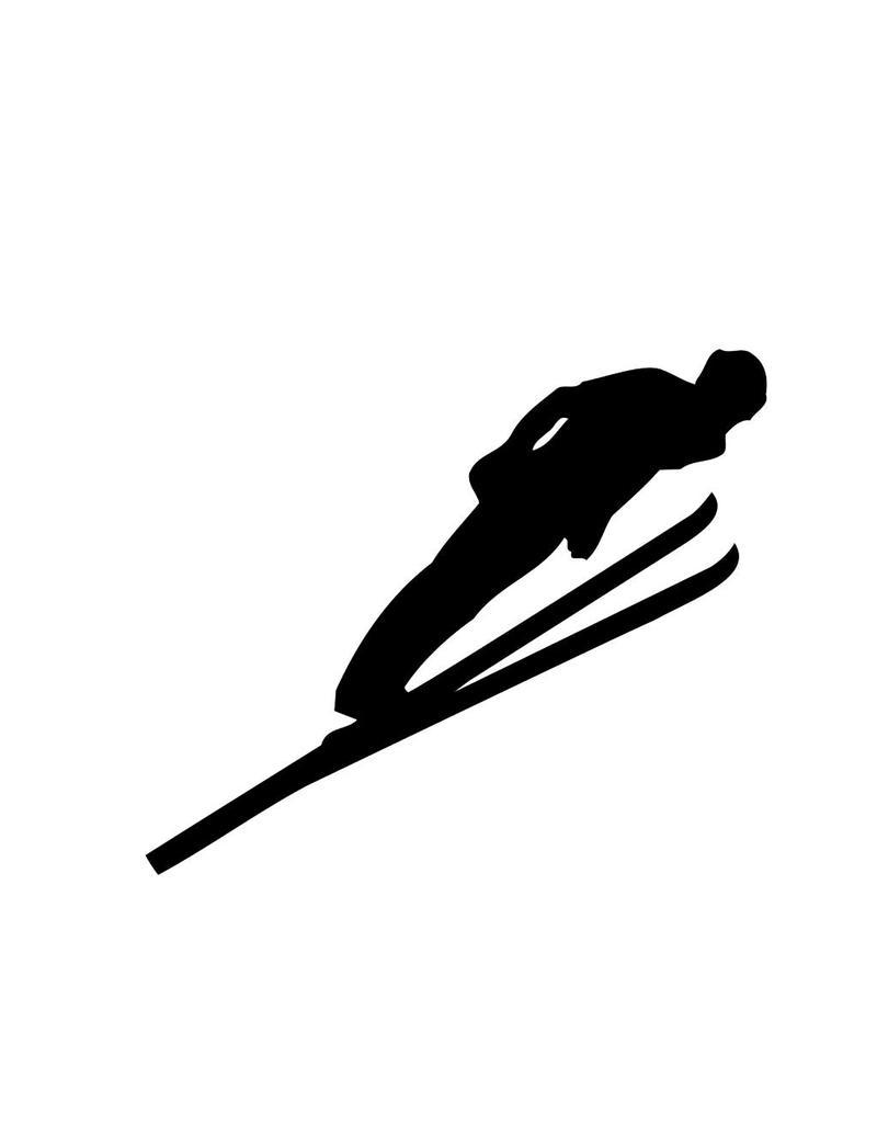 Skispringen Folienschnitt