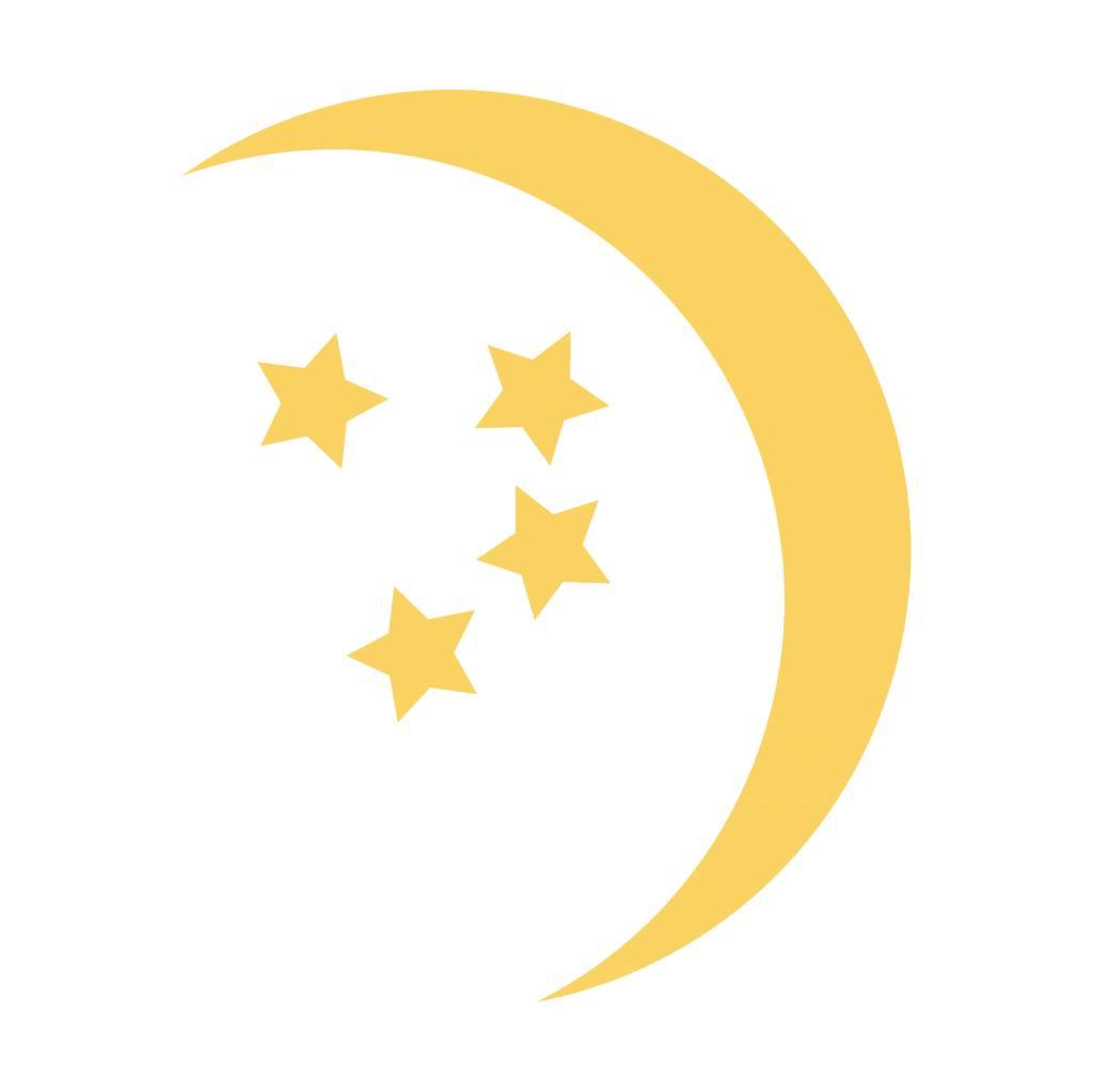 Moon and stars Sticker