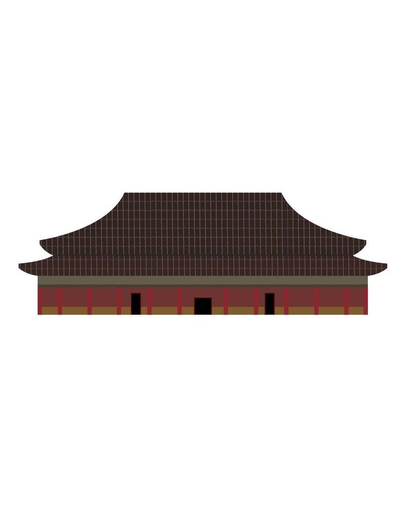 Autocollant bâtiment Chinois