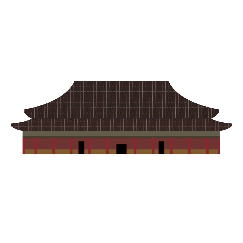 Chinese building Sticker