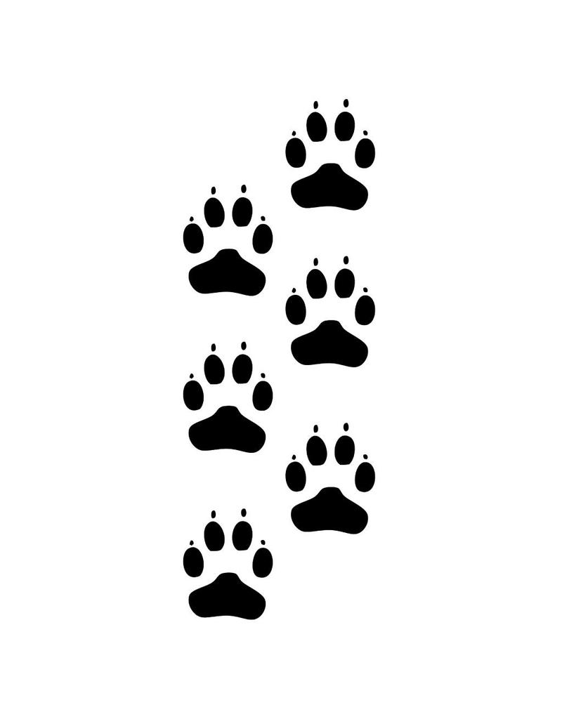 Hunde Fußspuren Sticker