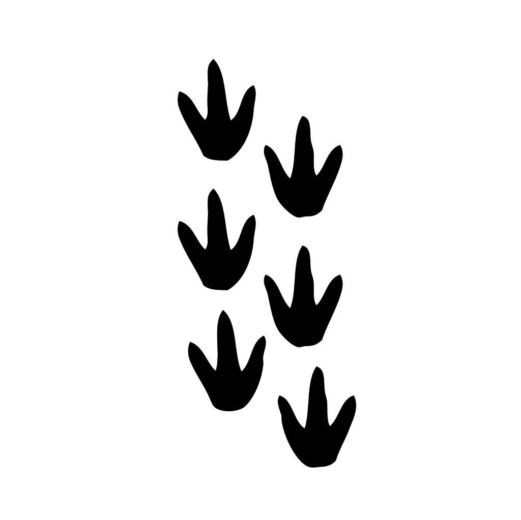 Dinosaurier Fußspuren Sticker