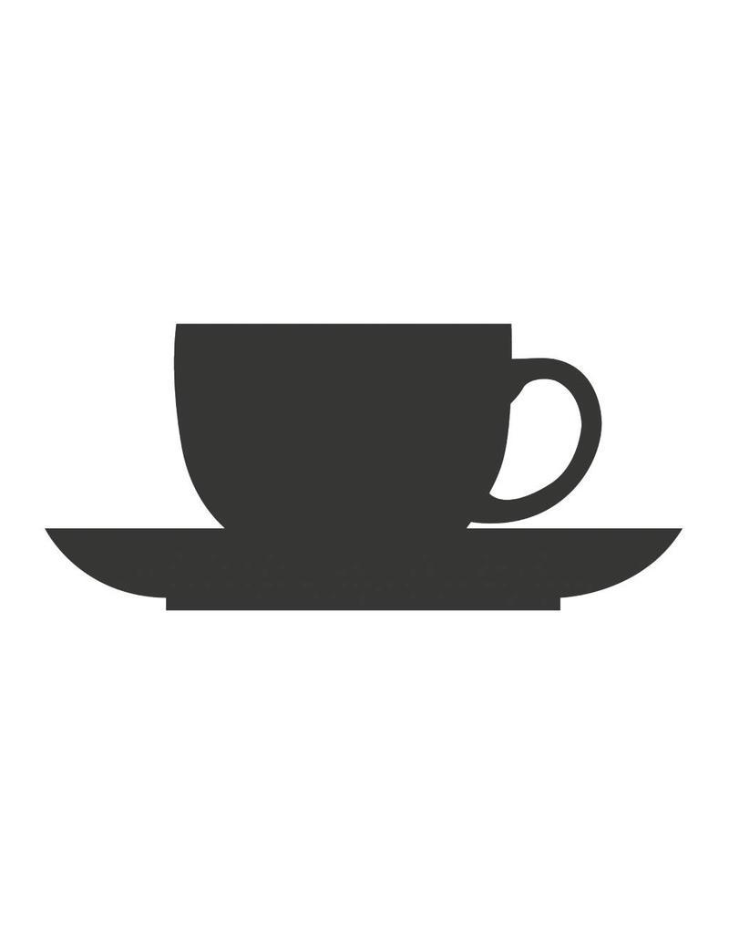 Pegatina pizarra cocina taza y plato