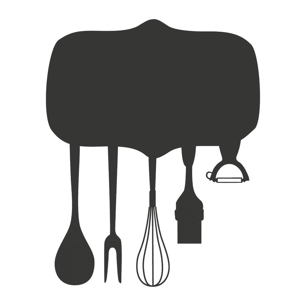 Pegatina pizarra cocina plato