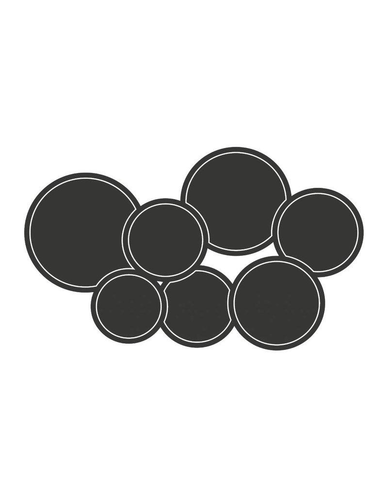 Pegatina pizarra calendario moderno círculo