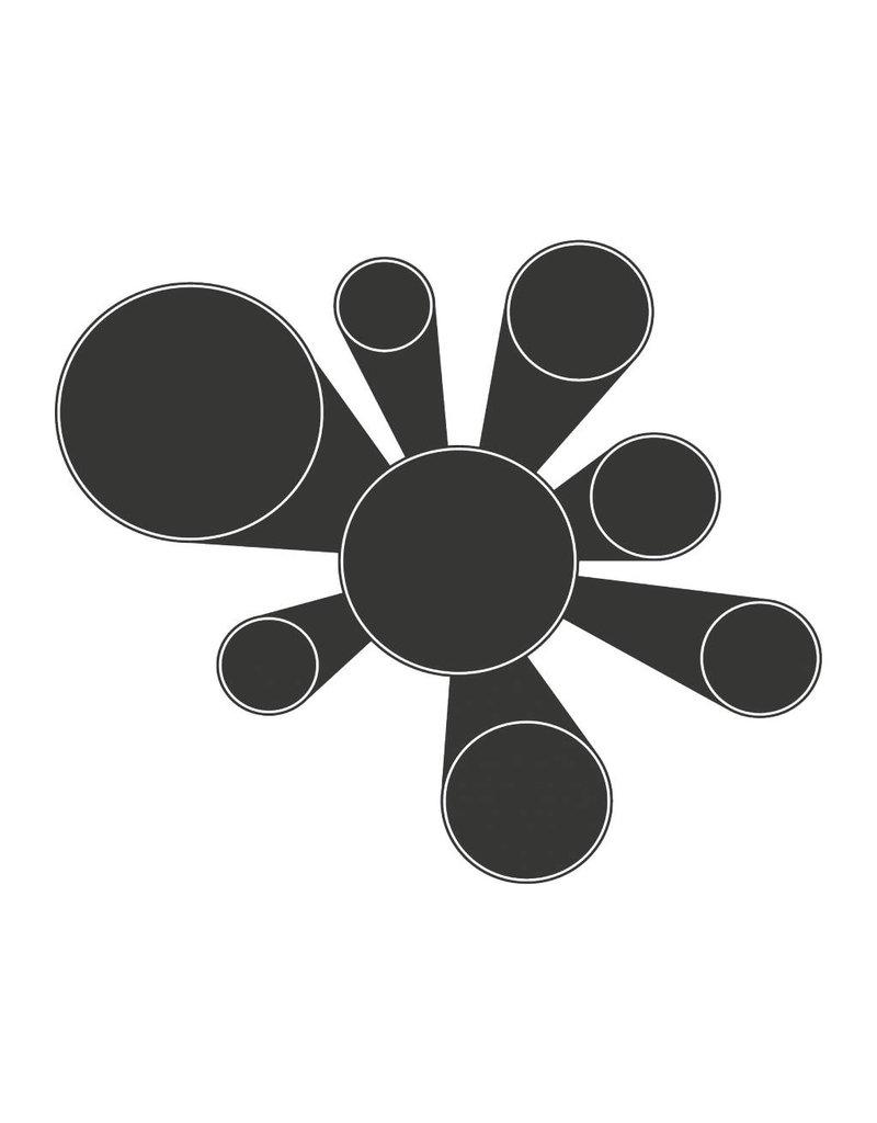 Autocollant tableau noir Calendrier Moderne 2