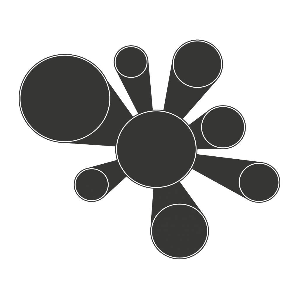 Black board Calendar Modern 2 Sticker