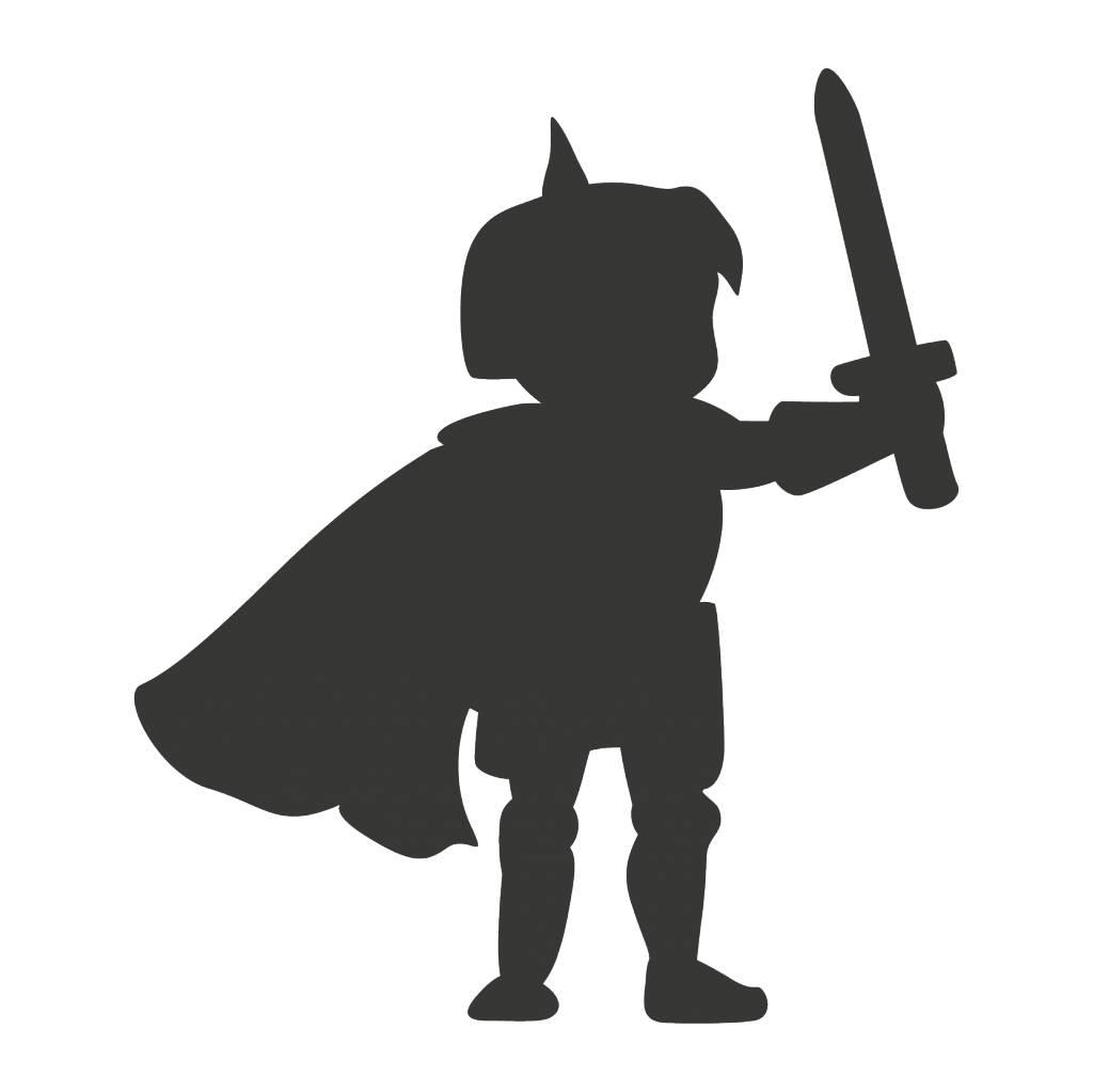 Black board Fantasy Knight Sticker