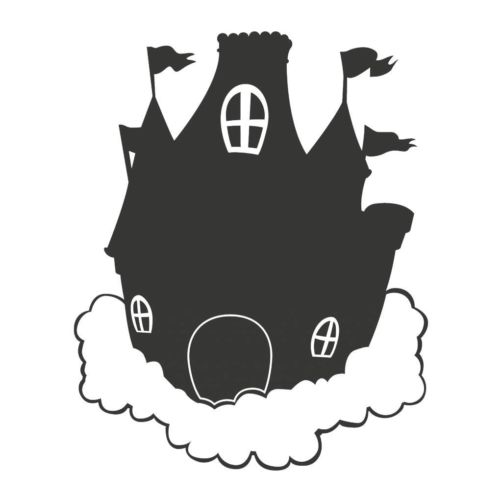 Schoolbord Fantasy Droomkasteel Sticker
