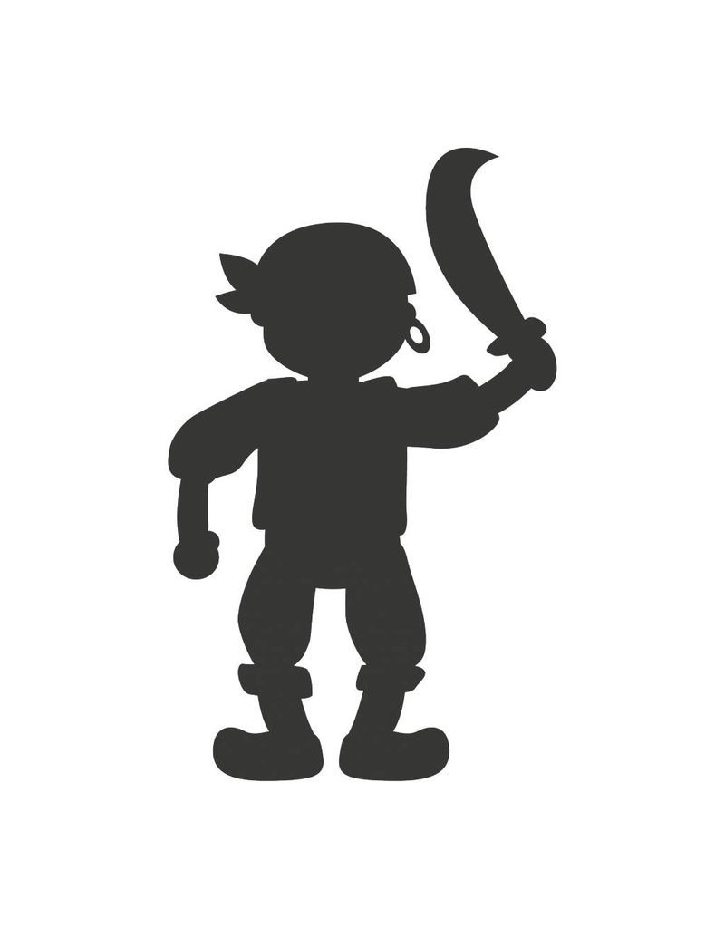 Black board Fantasy Pirate Sticker