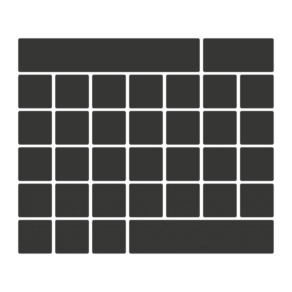 Black board Calendar Monthly overview 2 Sticker