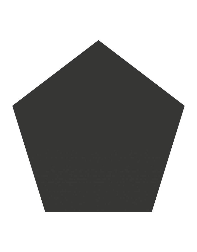 Black board figures Pentagon Sticker