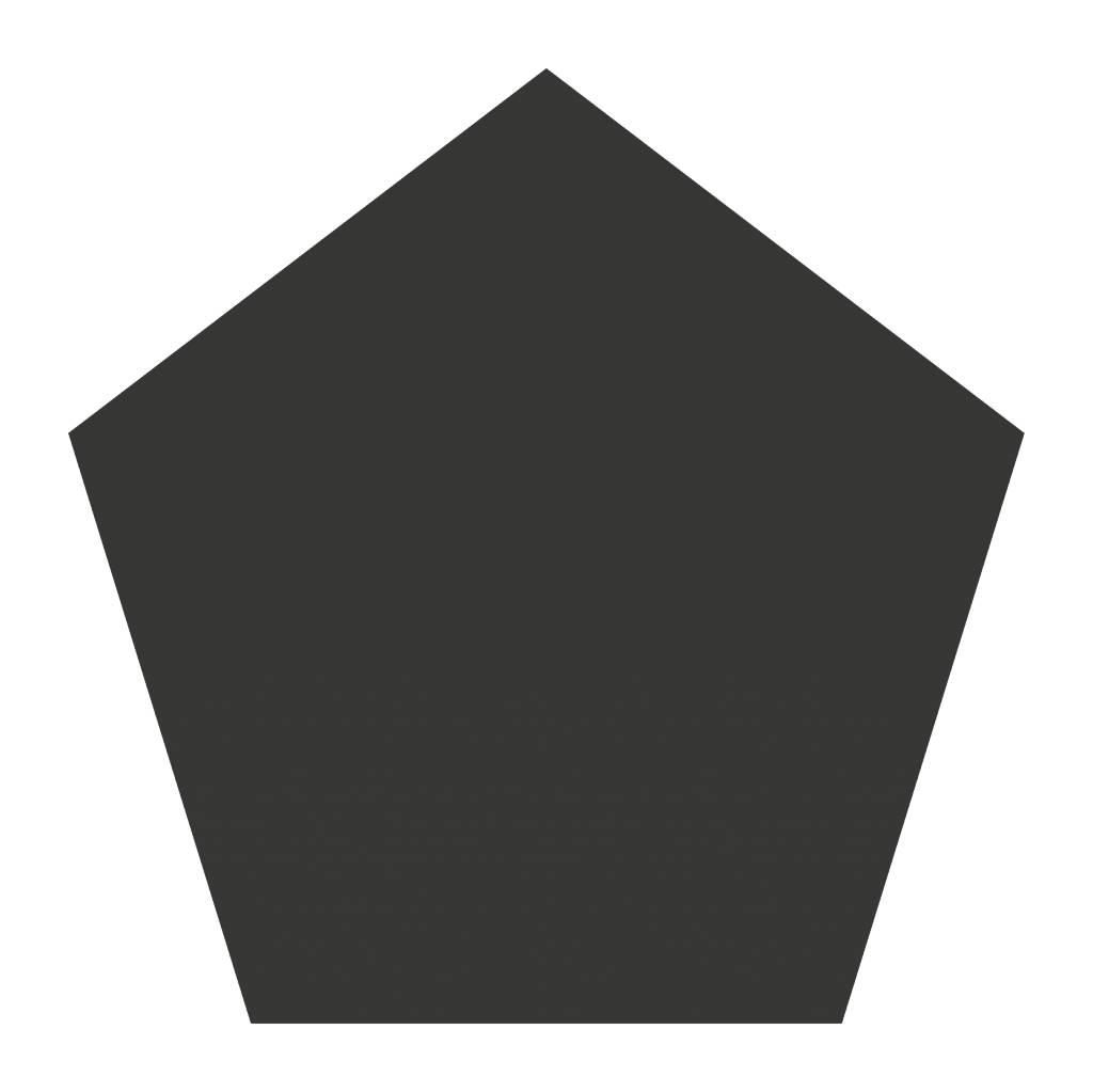 Schoolbord Figuren Vijfhoek Sticker