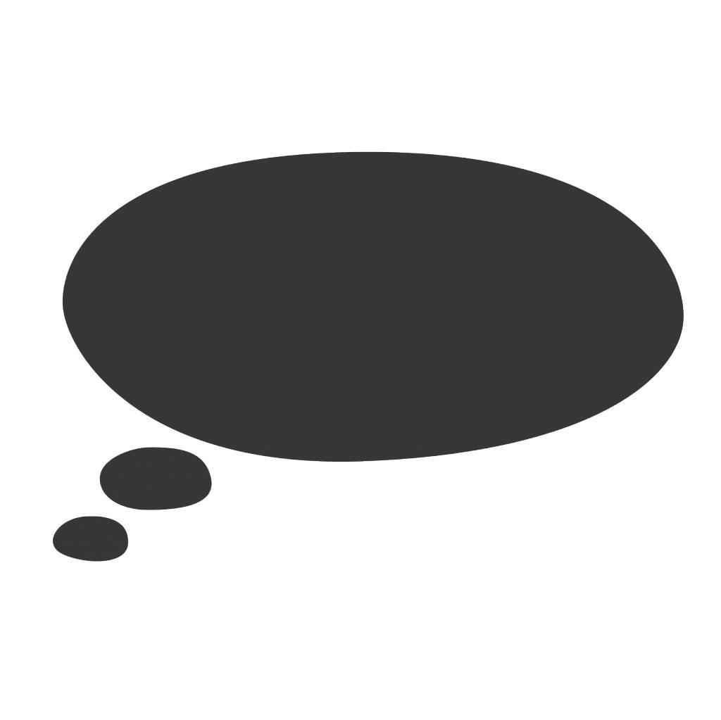 Black board Markup balloon 5 Sticker