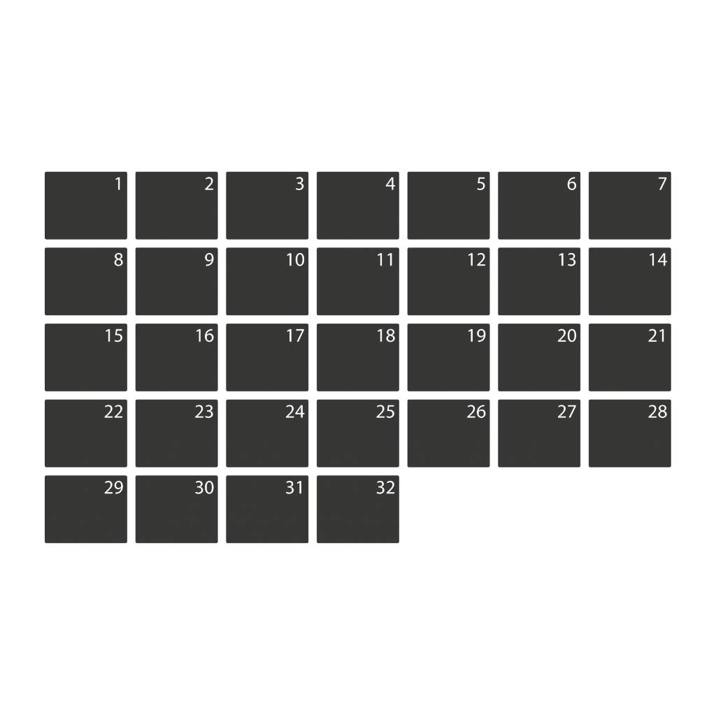 Black board Calendar Monthly overview Sticker