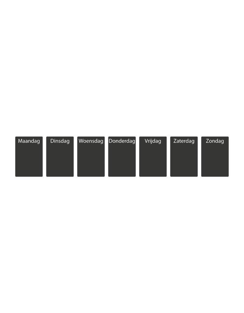Autocollant tableau noir Calendrier Aperçu hebdomadaire