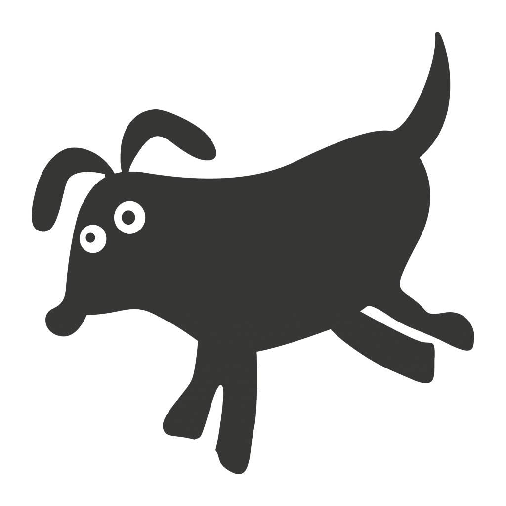 Autocollant tableau noir Cartoon Animaux Chien