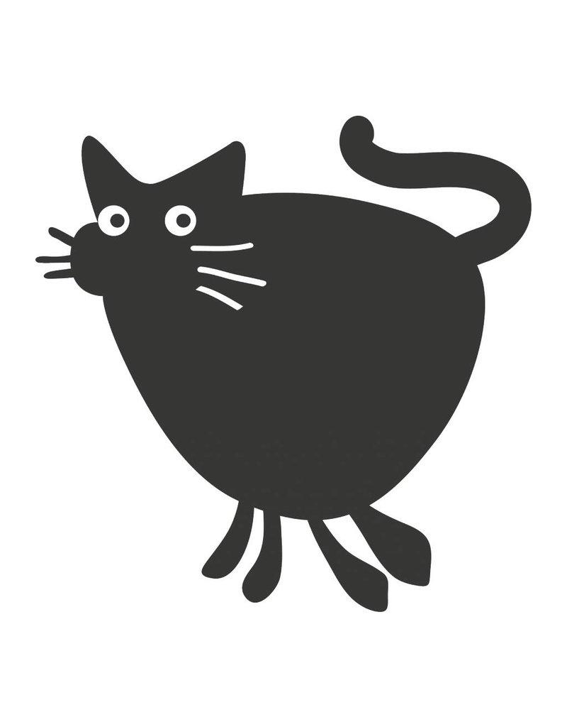Black board Cartoon Animal Cat Sticker