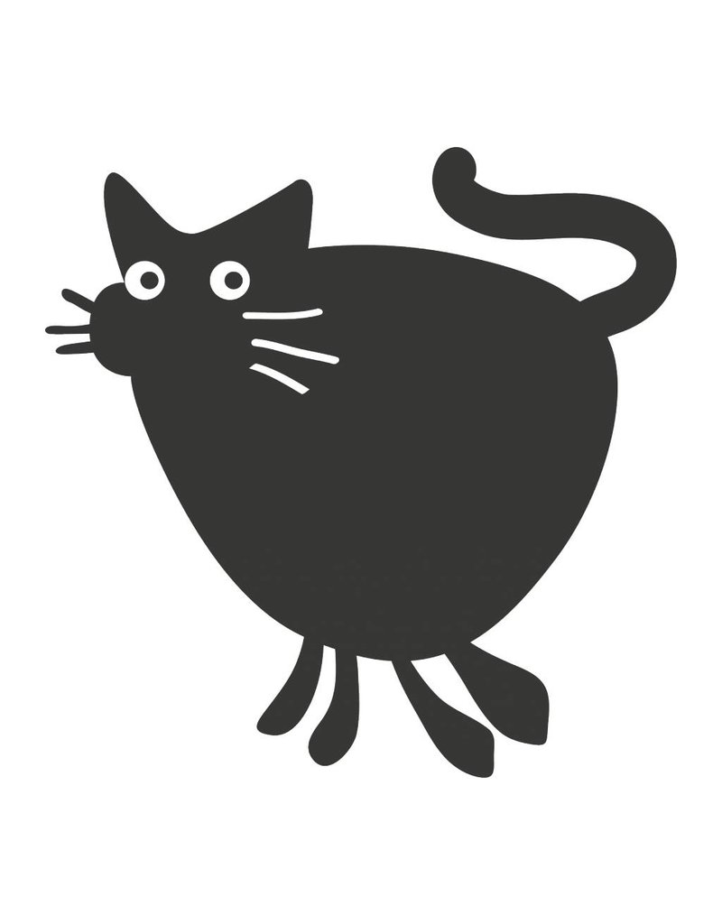 Pegatina pizarra animales gato