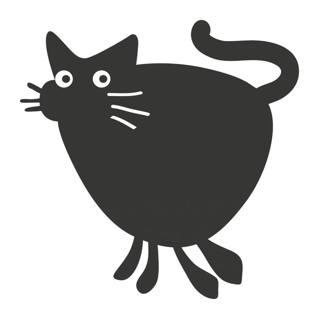 Autocollant tableau noir Cartoon Animaux Chat