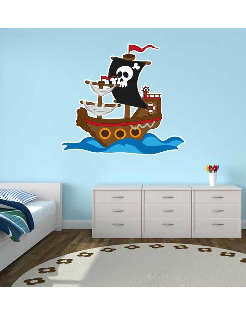 Kinderzimmer Sticker - Piratenschiff