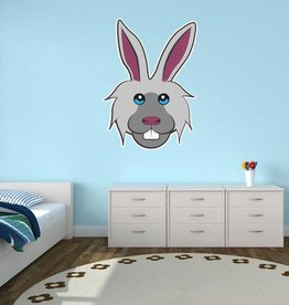 Pegatina habitación infantil - Conejo