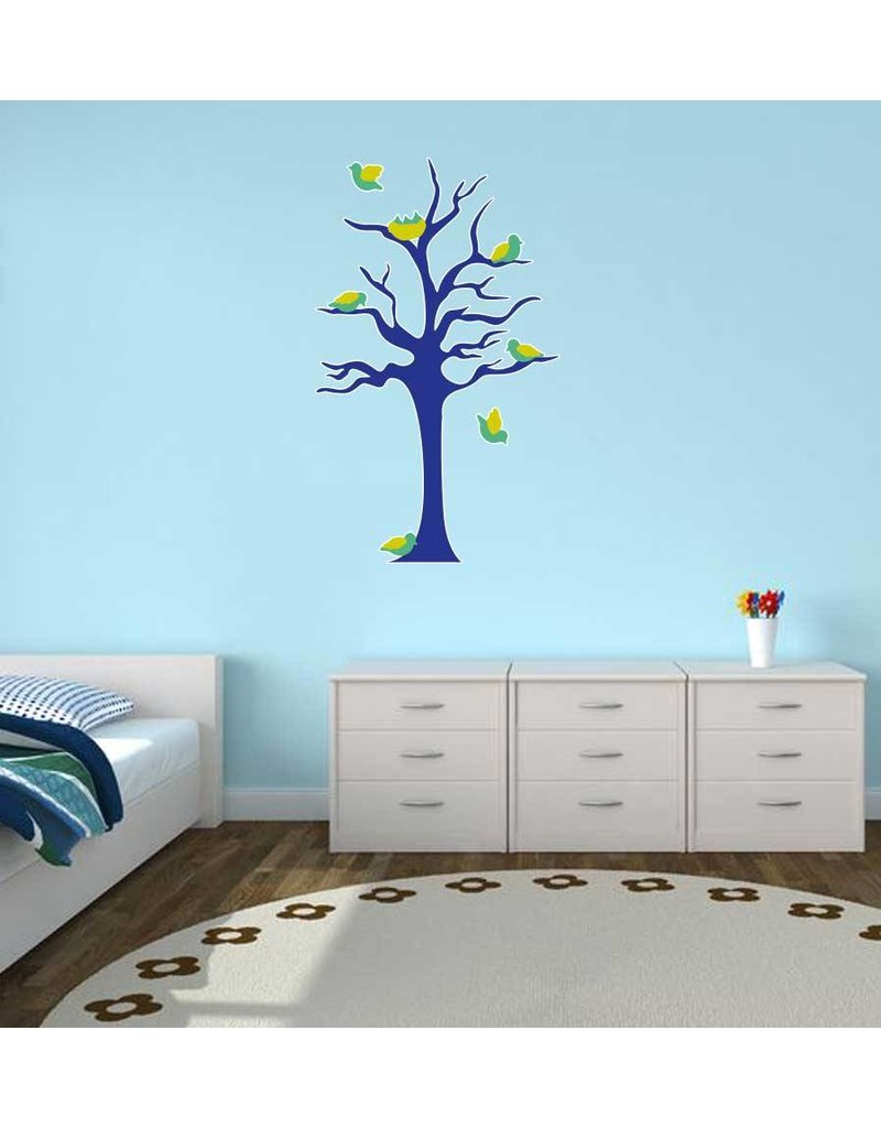 Pegatina habitación infantil - Árbol & Pajaritos