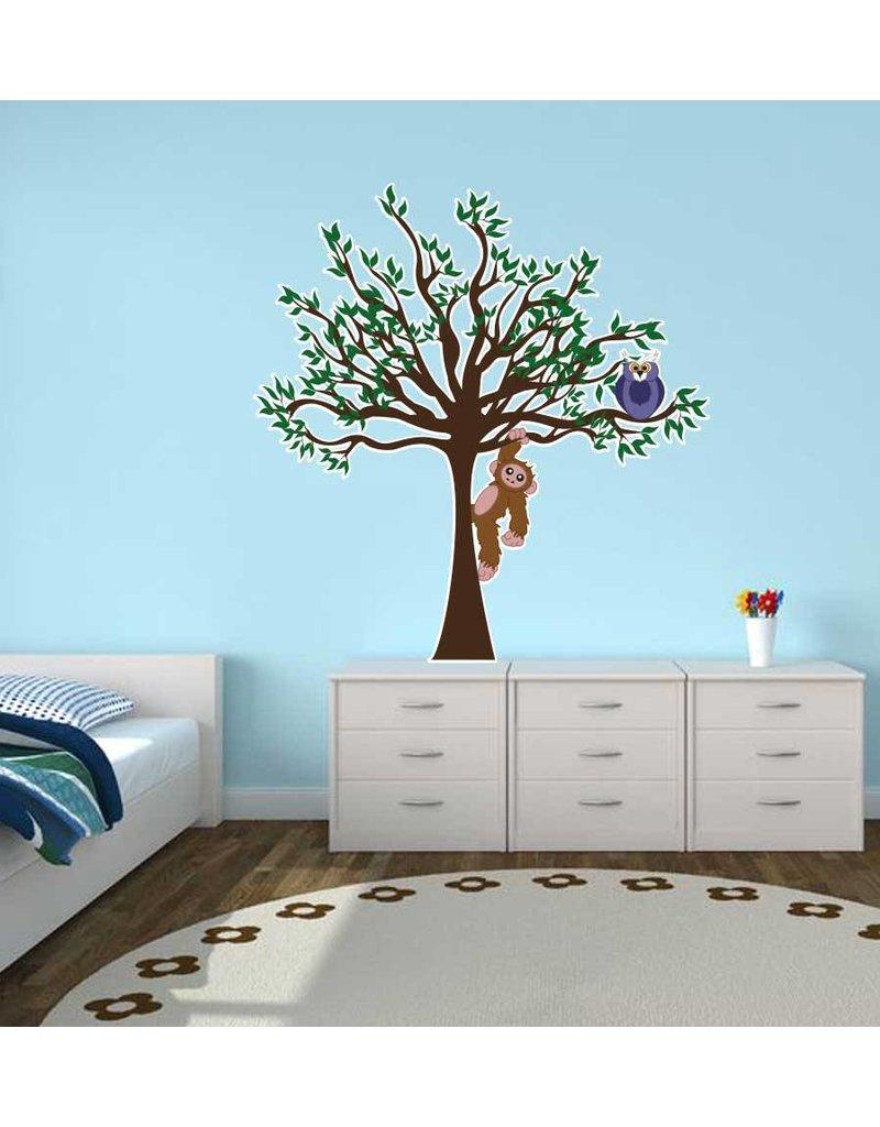 children's room Sticker - Tree, Owl & Monkey