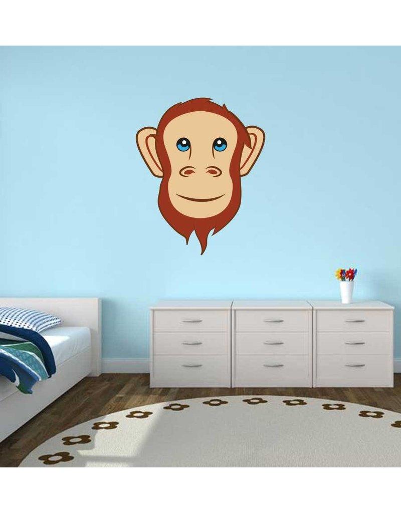 Pegatina habitación infantil - Mono