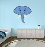 Pegatina habitación infantil - Elefante