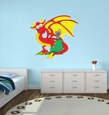 Kinderzimmer Sticker - Drache & Schloss