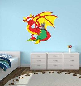 Autocollant chambre d'enfants - Dragon & Tourelle