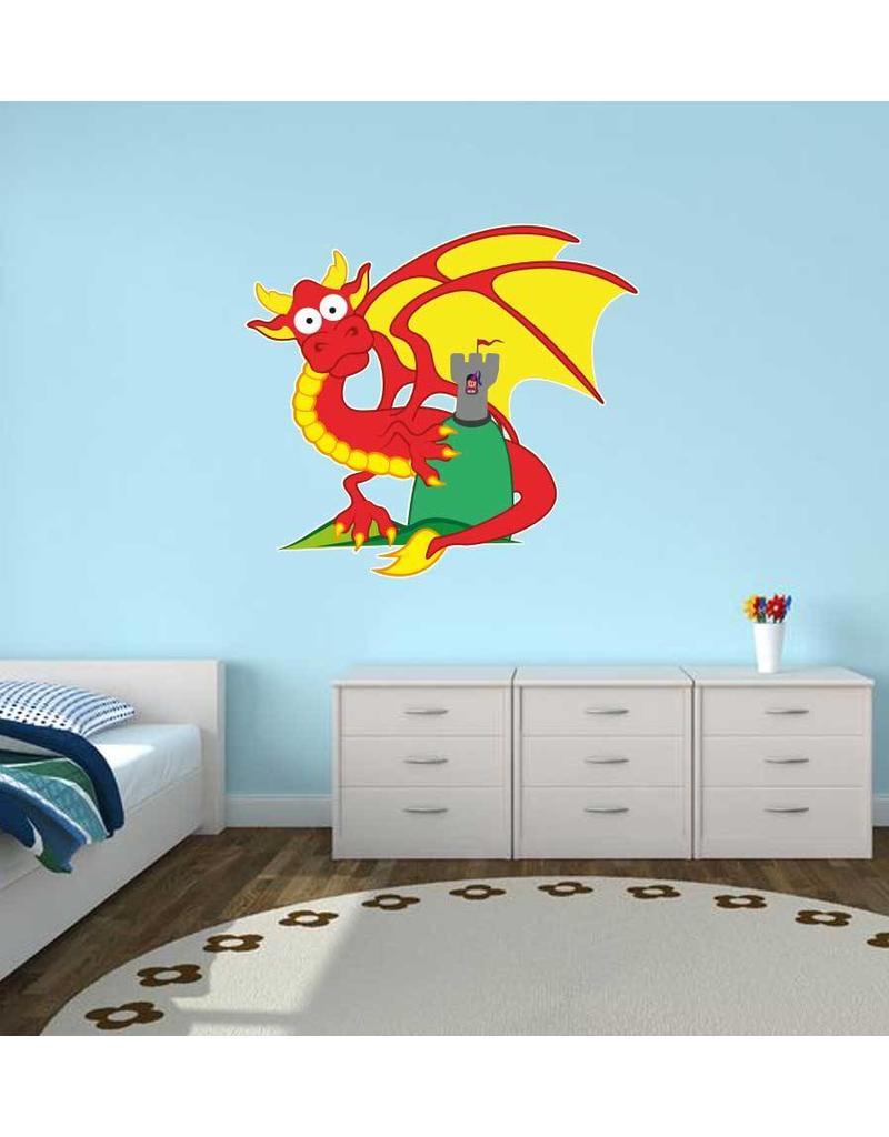 children's room Sticker - Dragon & Tower
