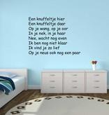 Texto holandés: ''Een knuffeltje hier''