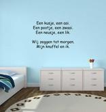 Texto holandés: ''Een kusje een aai''