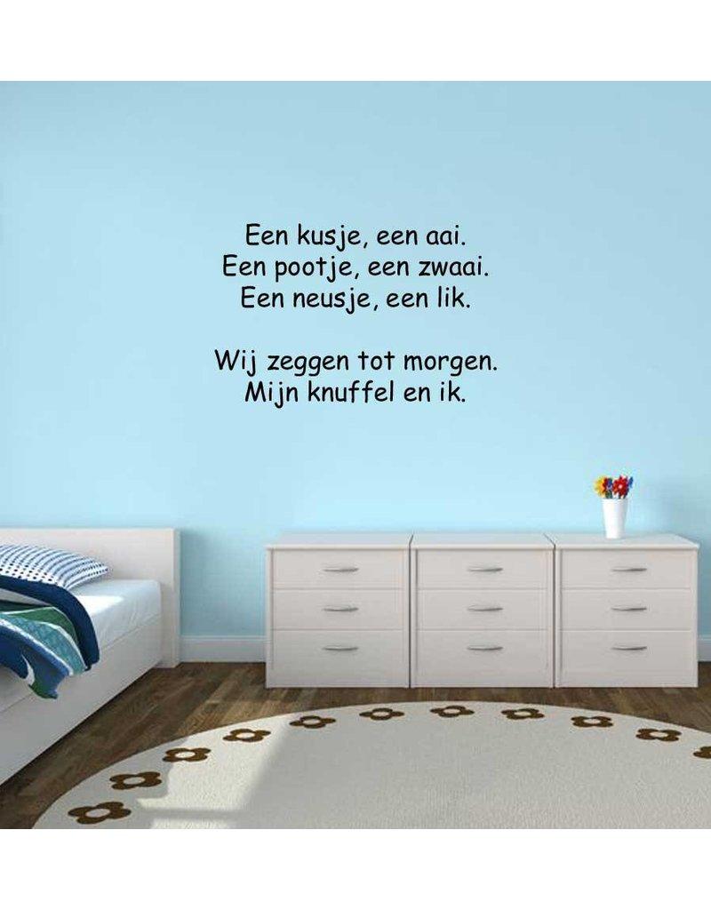 Dutch text: ''Een kusje een aai''