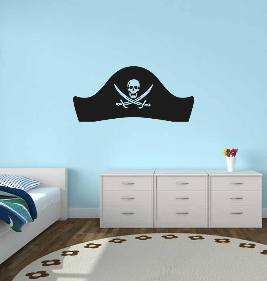 Pegatina sombrero pirata