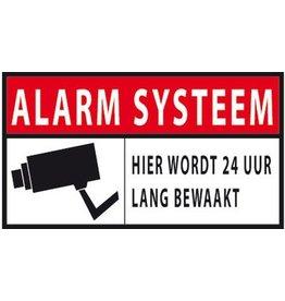 Alarm systeem 24 uur bewaking Sticker