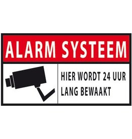 Alarm system surveillance 24 hours sticker