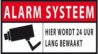 Pegatinas de vigilancia sistema de alarma 24 horas