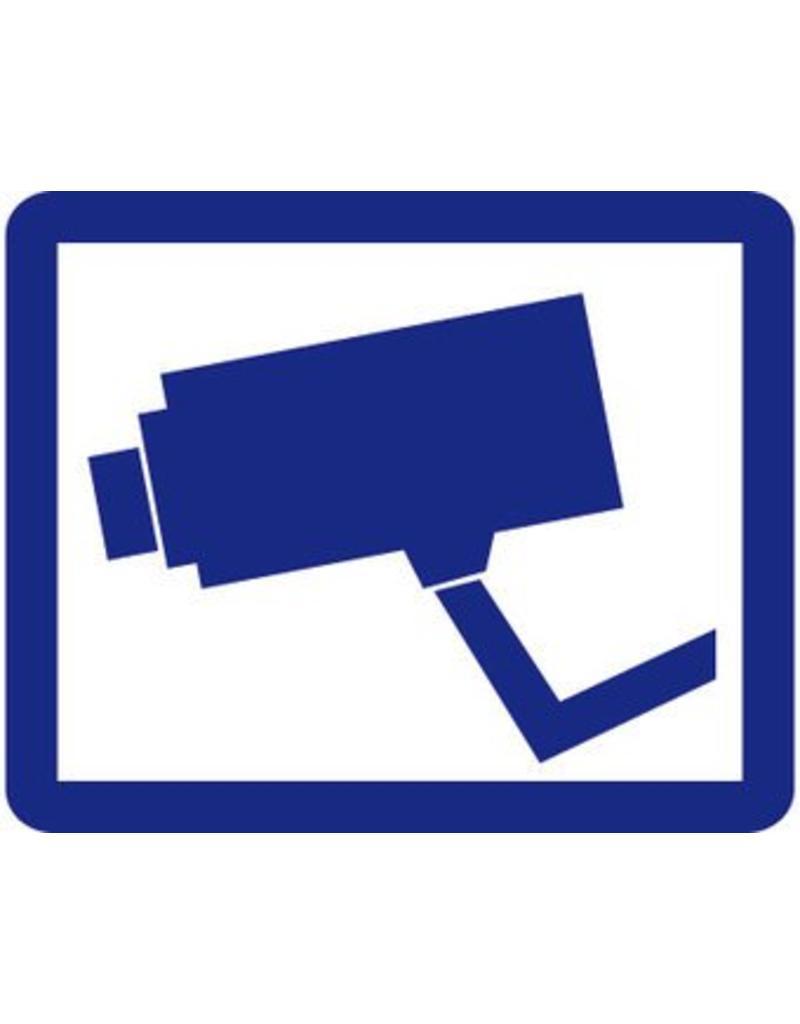 Blue camera sticker