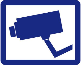 Blauwe camera Sticker
