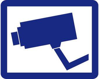 Pegatina cámara azul