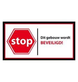 Stop dit gebouw wordt beveiligd Sticker