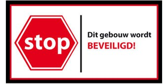 Stop this buildng is secured sticker