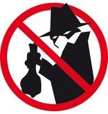 Verboden voor inbrekers Sticker